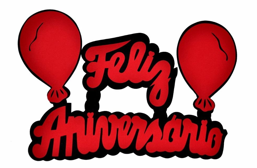 Mesa De Feliz Aniversario Bolo Para Sobrinha Imagens: Faixa Decorativa Feliz Aniversário Com Balões E.V.A