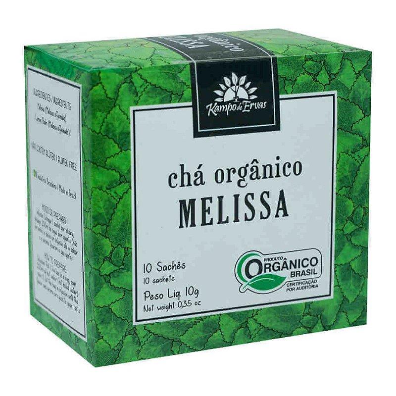 Chá de Melissa Orgânico 10 sachês - Kampo de Ervas