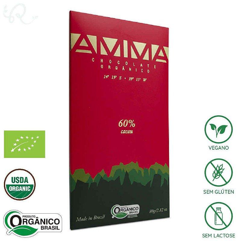 Chocolate Orgânico 60% Cacau 80g - Amma Chocolate