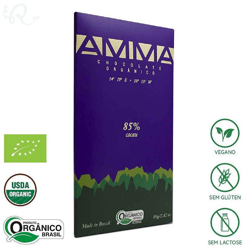 Chocolate Orgânico 85% Cacau 80g - Amma Chocolate