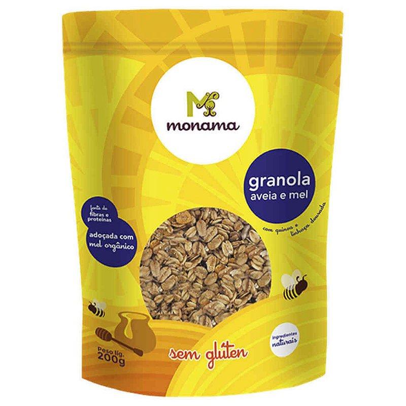 Granola Sem Glúten de Aveia e Mel 200g - Monama