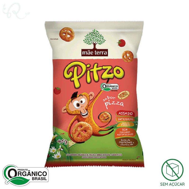 Pitzo Salgadinho Orgânico Pizza 45g - Mãe Terra