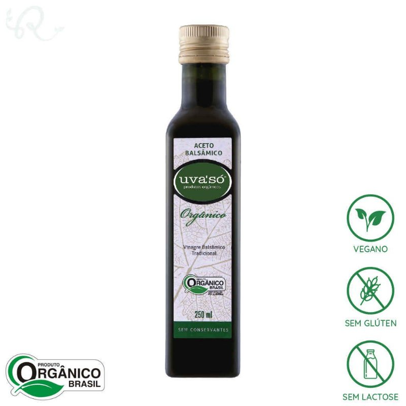 Vinagre Balsâmico Orgânico Tradicional 250ml - Uva'Só