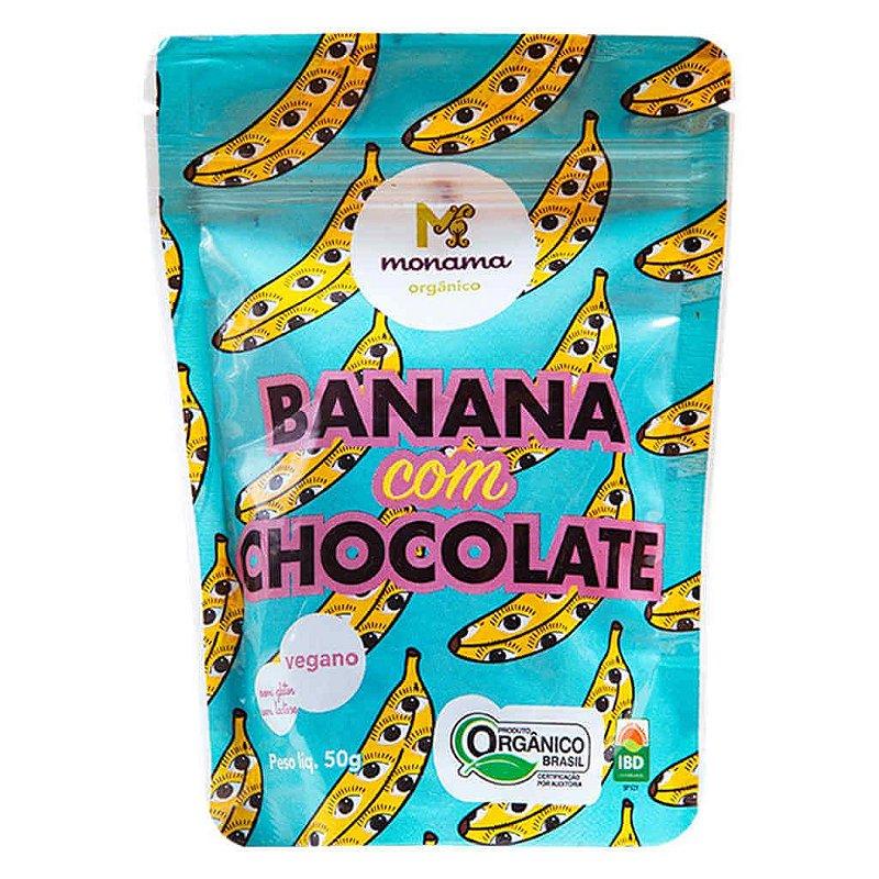 Snack de Banana com Chocolate Orgânico 50g - Monama