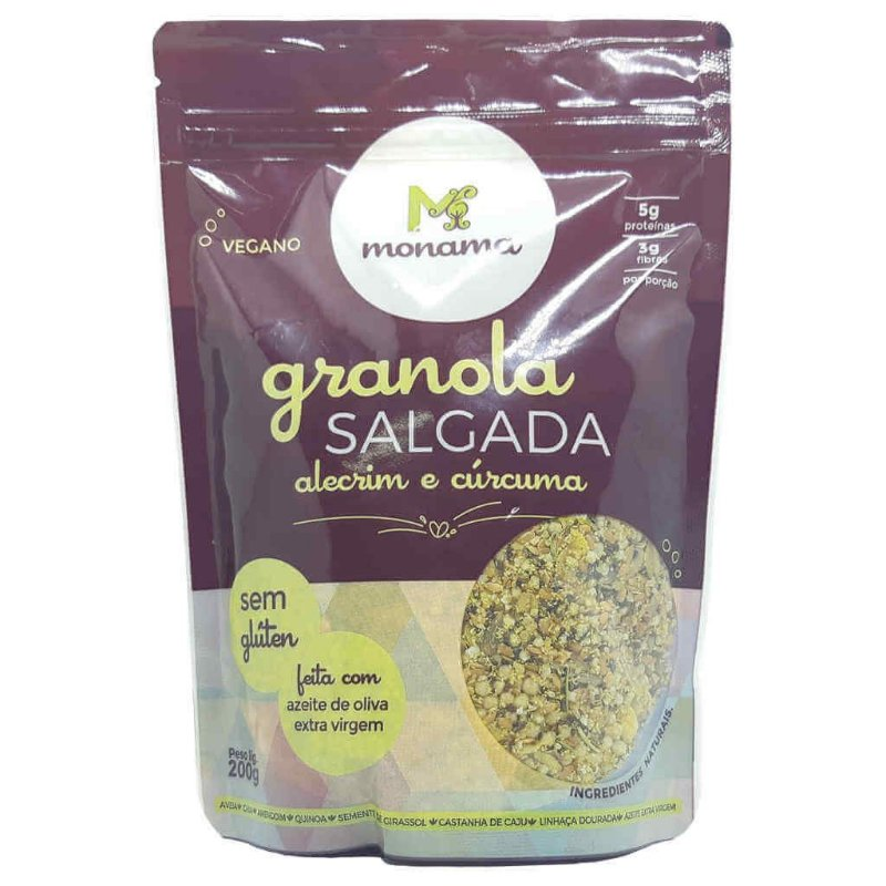 Granola Salgada de Alecrim e Cúrcuma 200g - Monama