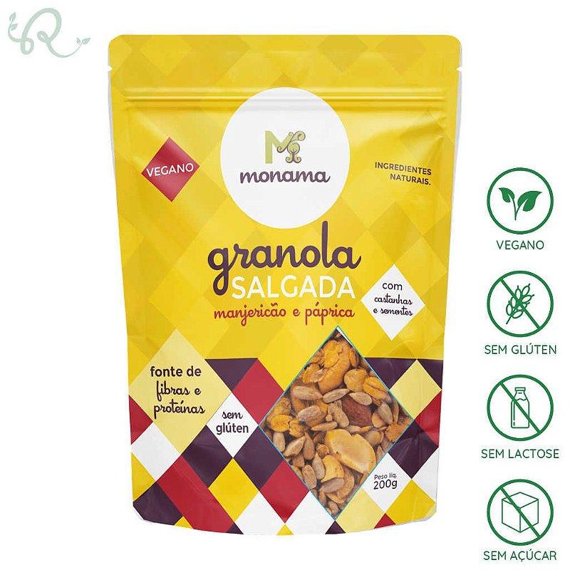 Granola Salgada de Manjericão e Páprica 200g - Monama