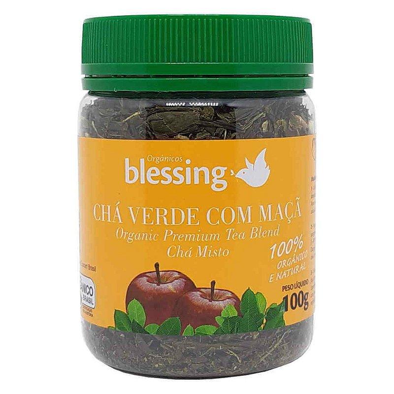 Chá Verde com Maçã Orgânico 100g - Blessing