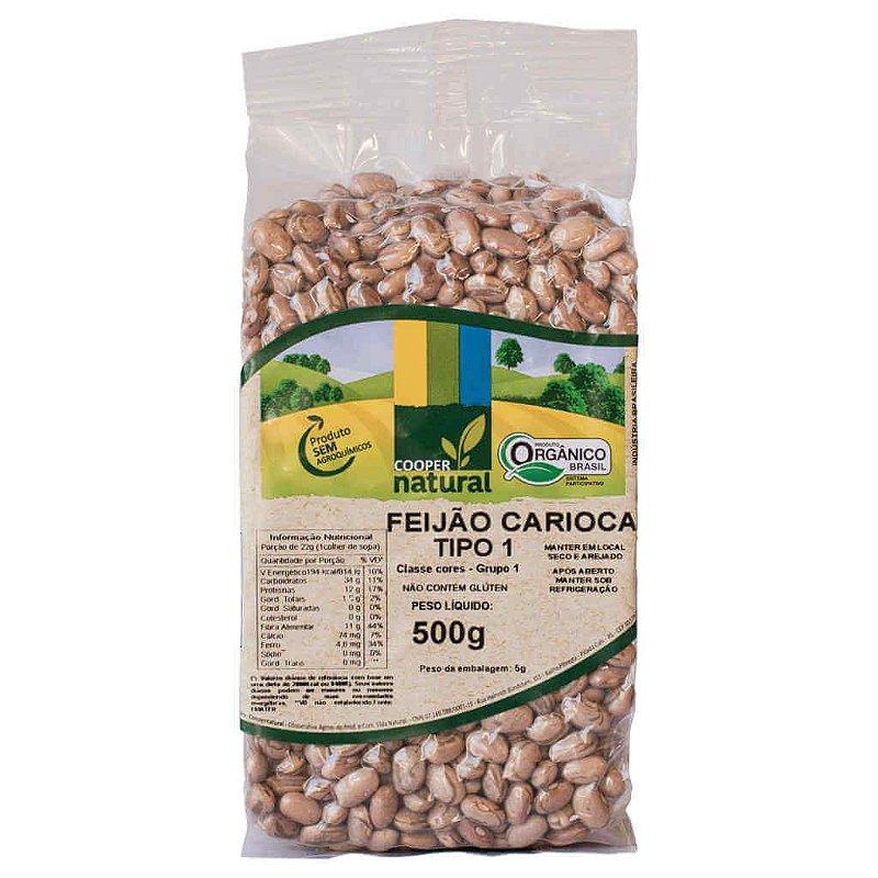Feijão Carioca Orgânico 500g - Coopernatural