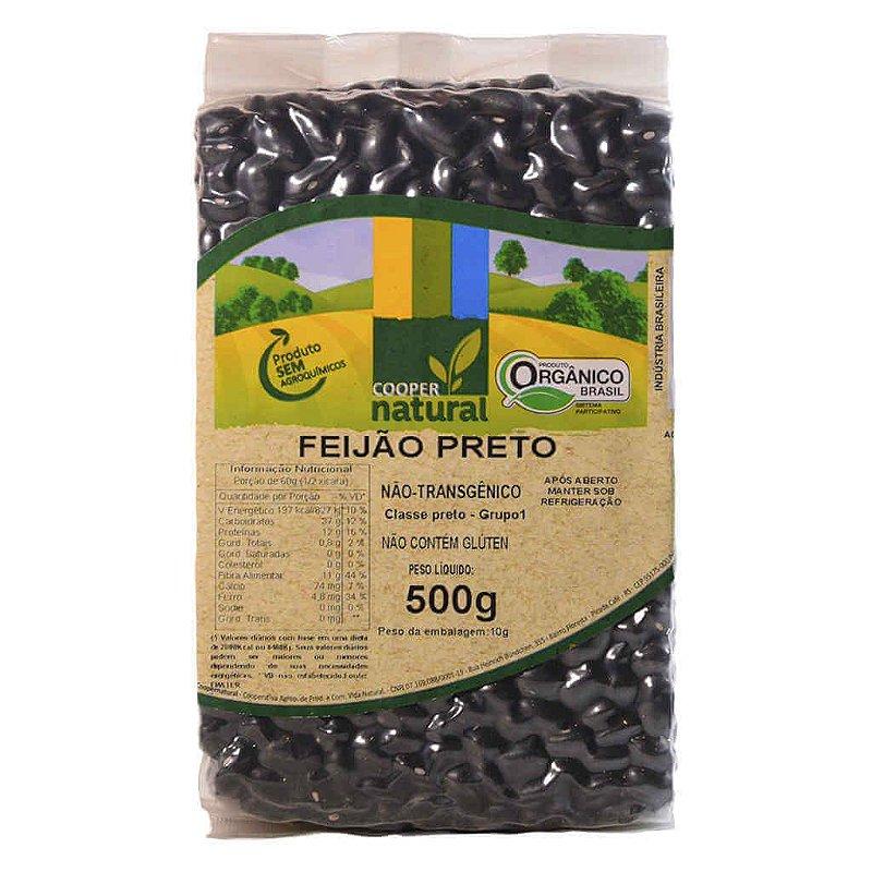 Feijão Preto Orgânico 500g - Coopernatural