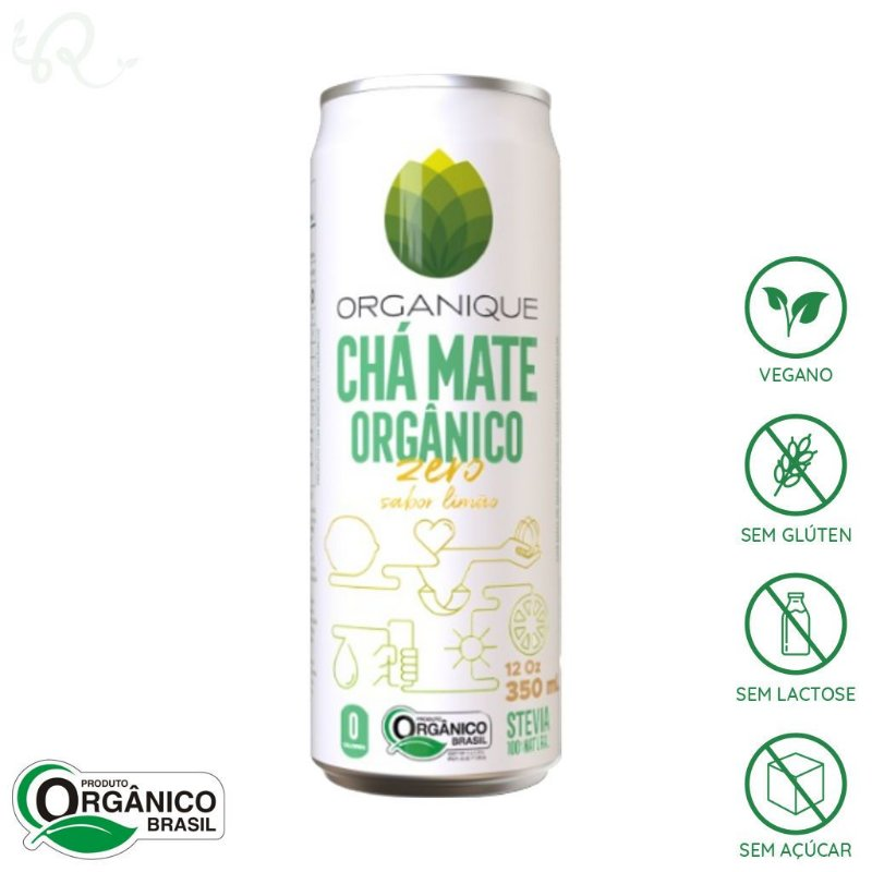 Chá Mate Orgânico Zero com Limão 350ml - Organique