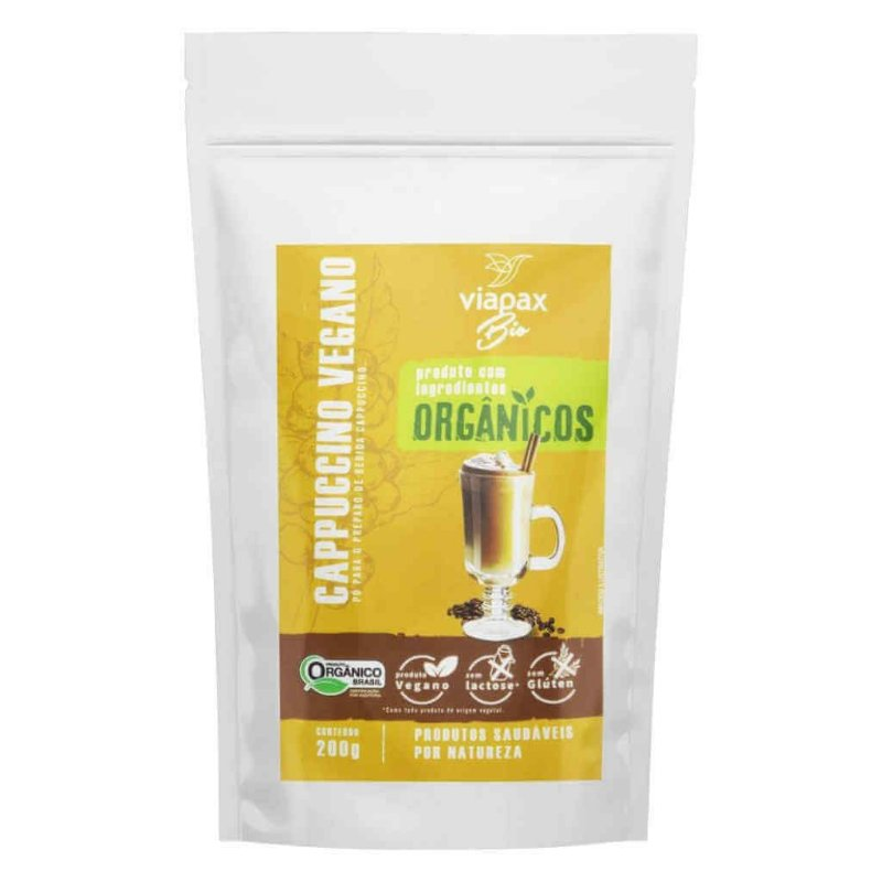 Cappuccino em Pó Vegano e Orgânico 200g - Viapax Bio