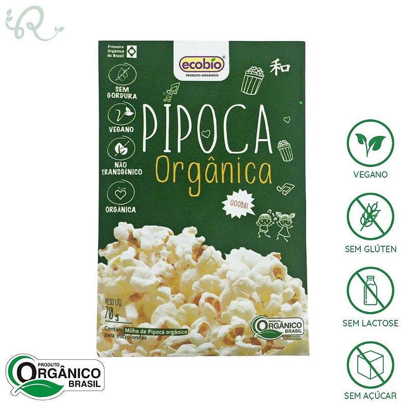Pipoca Orgânica de Microondas 70g - Ecobio (PRÓXIMO AO VENCIMENTO)