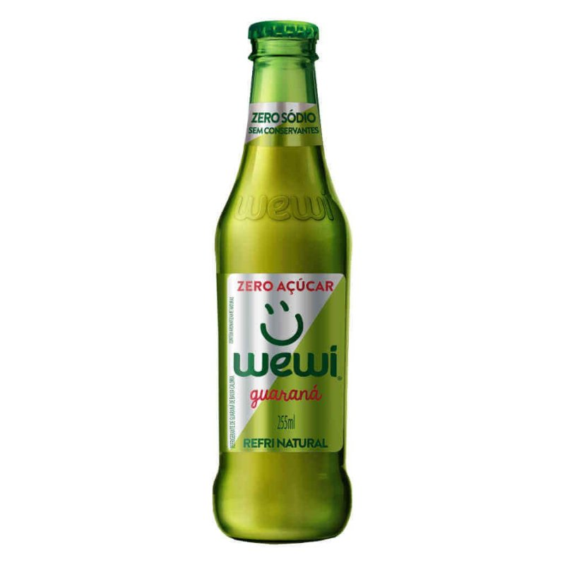 Refrigerante Wewi Guaraná Zero Açúcar Natural 255ml - Wewi