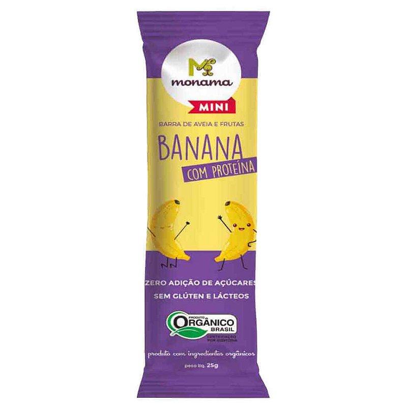 Barrinha de Aveia Infantil Banana com Proteína Orgânica 25g - Monama