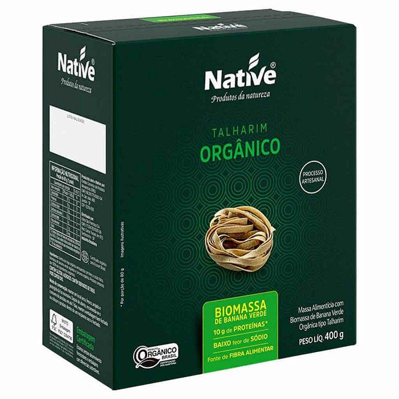 Macarrão Orgânico com Biomassa de Banana Verde 400g - Native