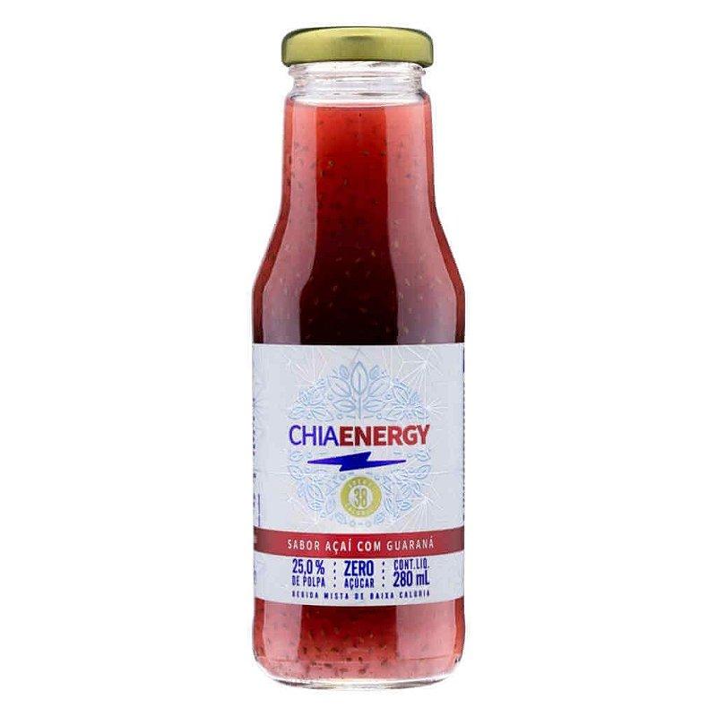 Bebida Chia Energy Açaí com Guaraná 280ml - Viapax Bio