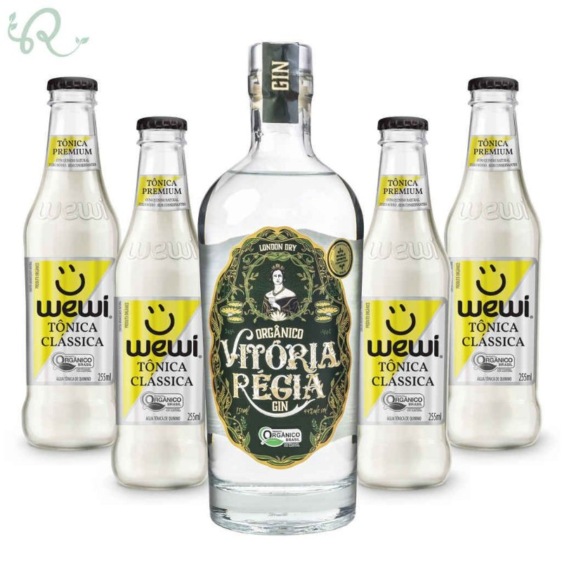 Kit Gin Tônica Orgânico Clássica - Vitória Régia e Wewi