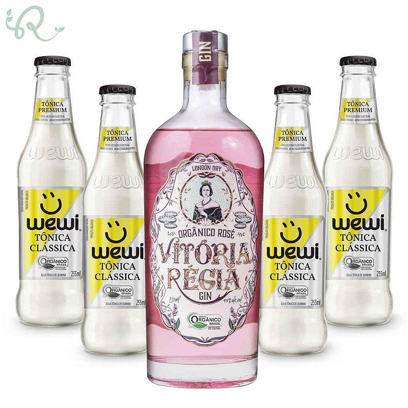 Kit Gin Tônica Orgânico Rosé - Vitória Régia e Wewi