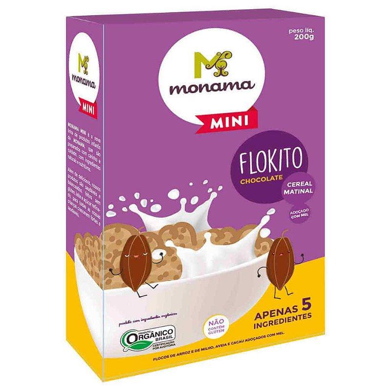 Cereal Matinal Orgânico Flokito Chocolate Mini 200g - Monama