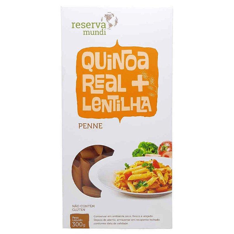 Macarrão de Quinoa e Lentilha Penne Sem Glúten 300g - Mundo da Quinoa