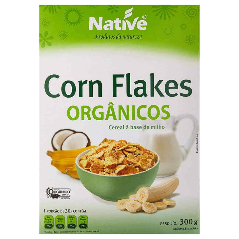 Cereal Matinal Orgânico Corn Flakes 300g - Native