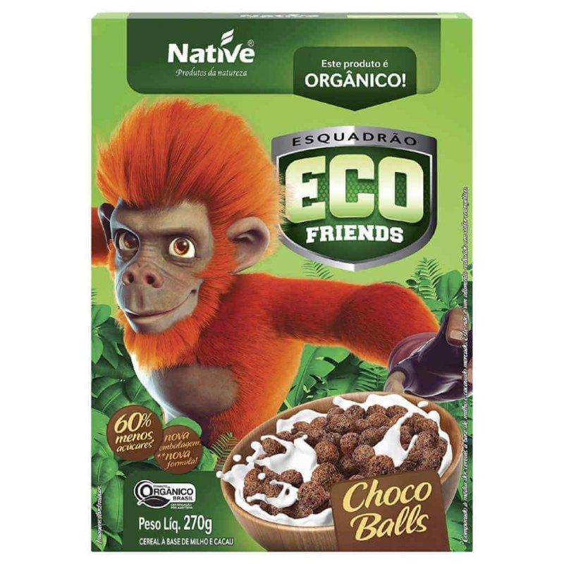 Cereal Matinal Orgânico Eco Friends Choco Balls 270g - Native