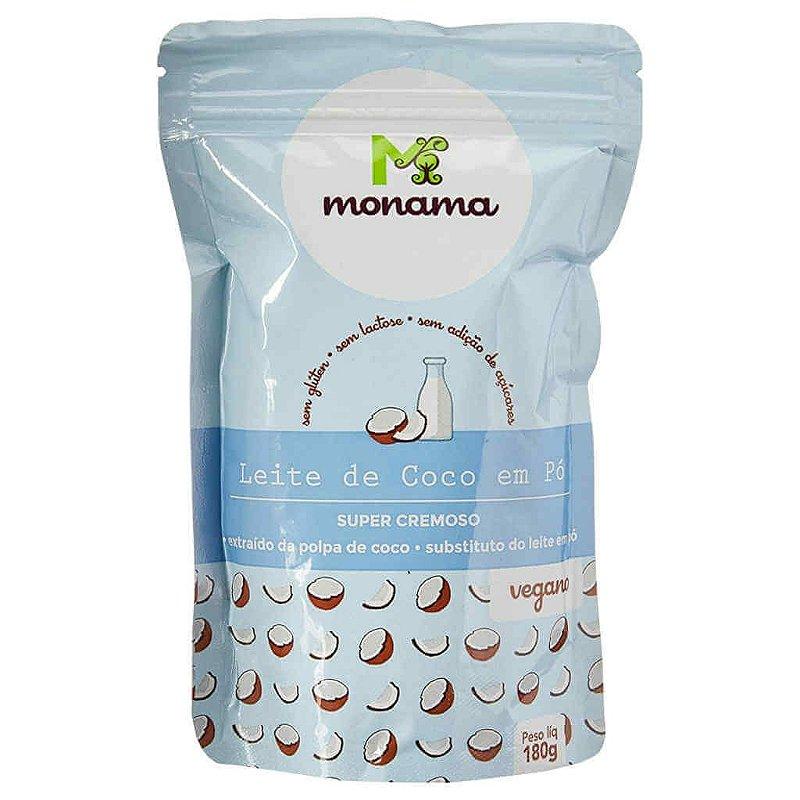 Leite de Coco em Pó Vegano Natural 180g - Monama