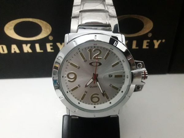 6fa022566a0 Relógios Oakley C  Calendário Aço Inoxidável. Código  8D7ZUQRAK. Relógios  Oakley C  Calendário Aço Inoxidável