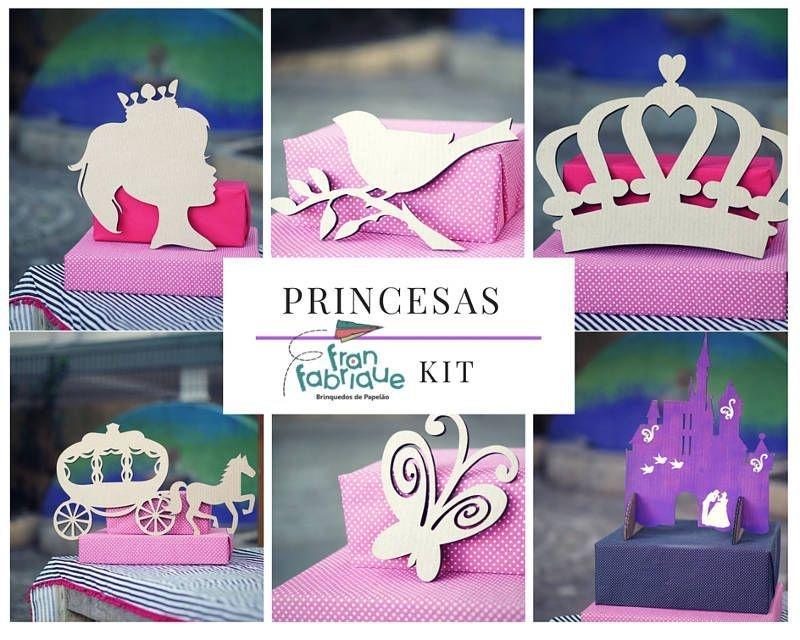 Festa Princesas - Kit de imagens