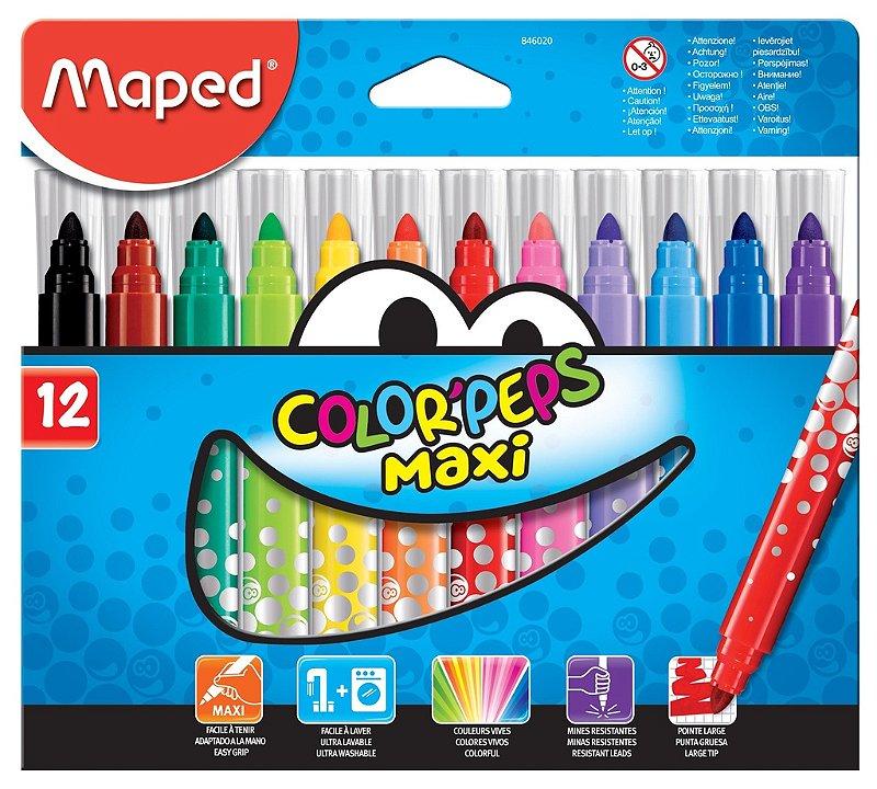 Caneta Hidrográfica Color Peps Maxi - 12 cores