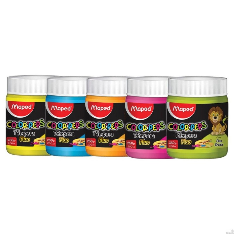 Tinta Guache Color Peps FLUO - Pote 200ml