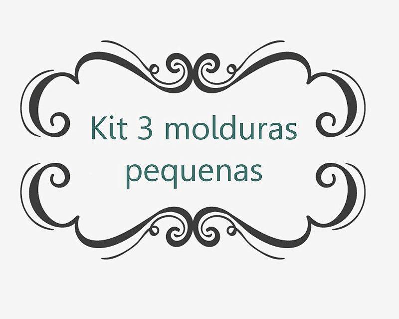 Kit 3 Molduras (tam. P)