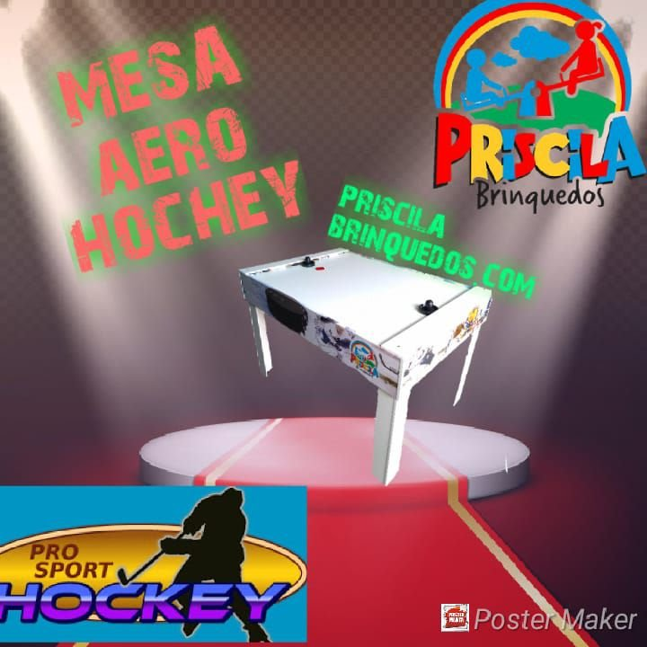 5967250bf0 Mesa de Air Game   hochey disco ( GRANDE ) PRISCILA BRINQUEDOS ...