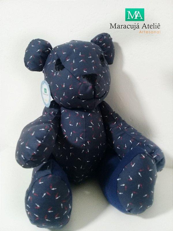 Ursinho de tecido Marinho