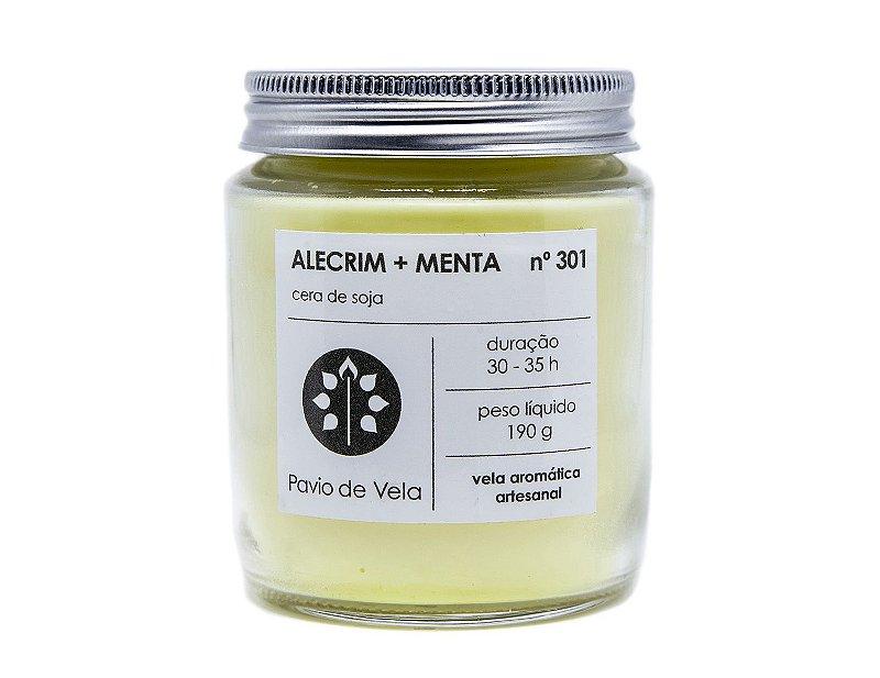 Vela Alecrim + Menta | 35 horas (Refrescante)