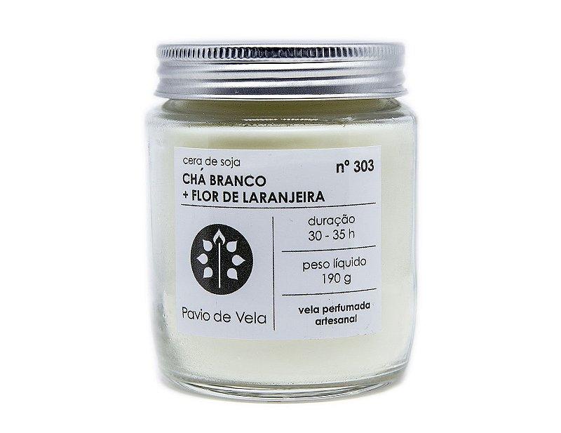 Vela Chá Branco + Flor de Laranjeira | 35 horas (Floral)