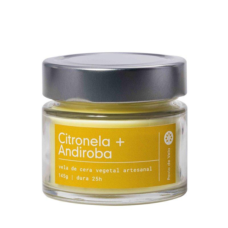 Vela Citronela + Andiroba | 25 horas (refrescante)