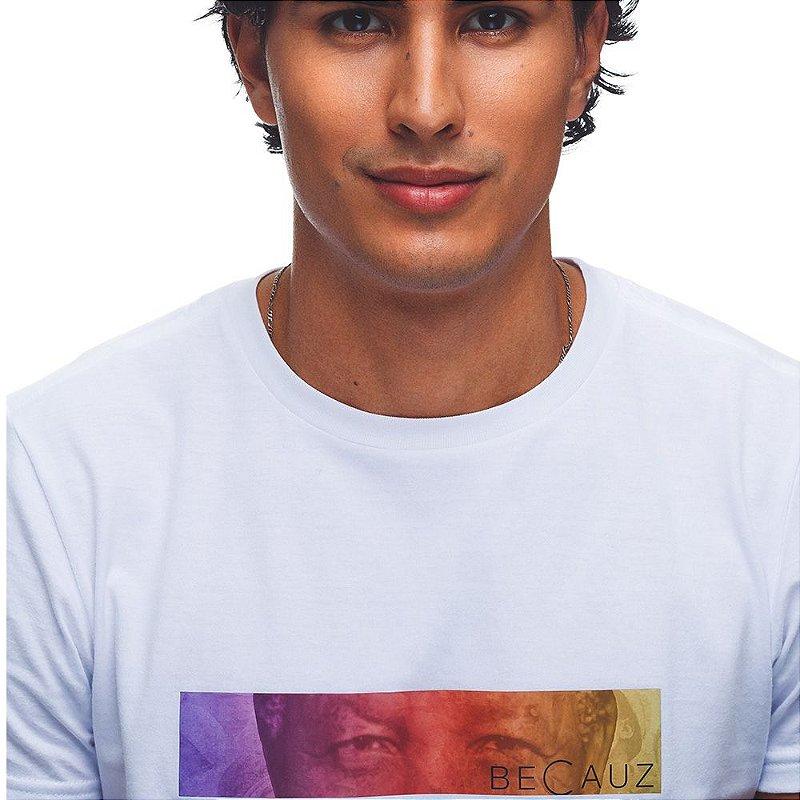 Camiseta BeCauz Masculina Visionários: Mandela