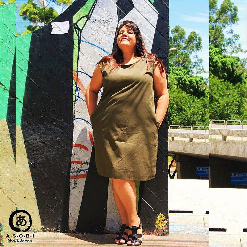 Vestido Linha ZEN MILITAR com Bolsos