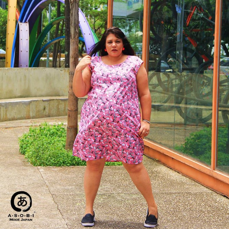Vestido Linha ZEN HELLO KITTY PINK com Bolsos