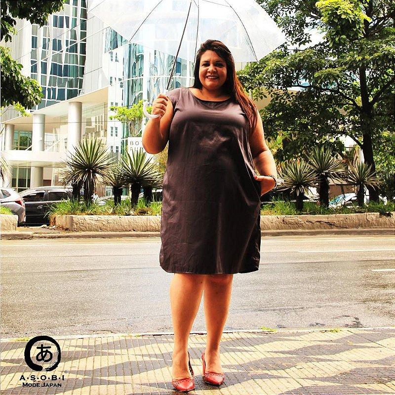 Vestido Linha ZEN PRETO HIKARI com Bolsos