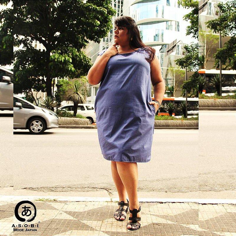 Vestido Linha ZEN BLUE com Bolsos