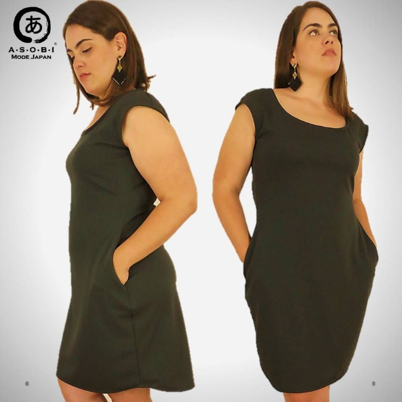 VESTIDO  EXECUTIVA L'AVENUE - GREY MILITAR