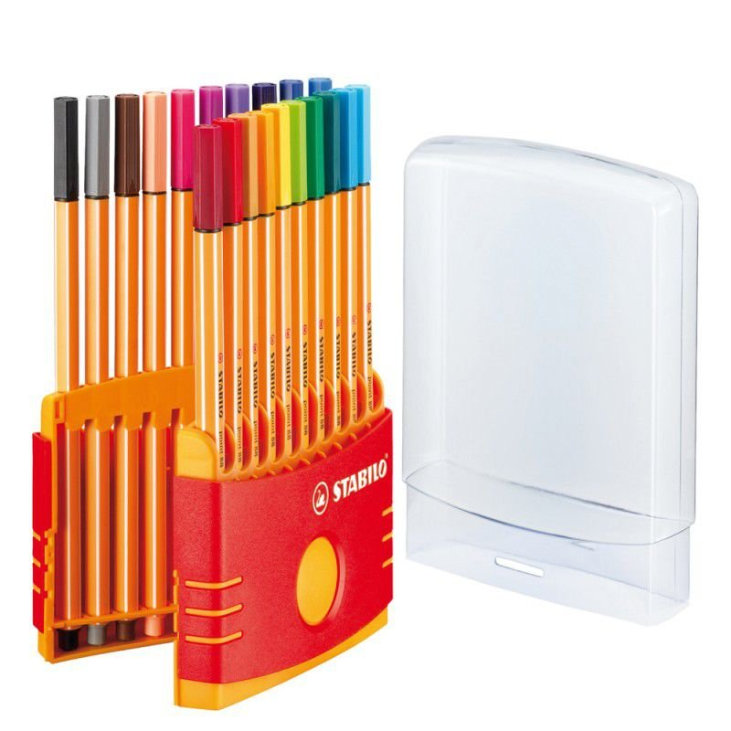 Kit Canetas Stabilo Point 88 Color Parade 20 cores