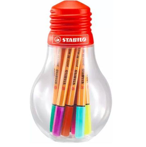 Kit Canetas Stabilo Mini Colorful Ideas 12 cores