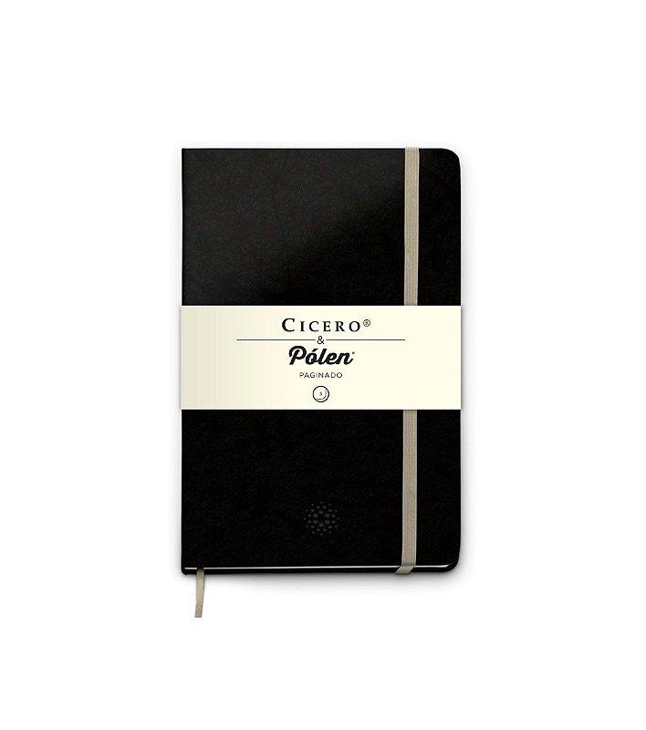Caderneta Cicero Polen Paginado Preto