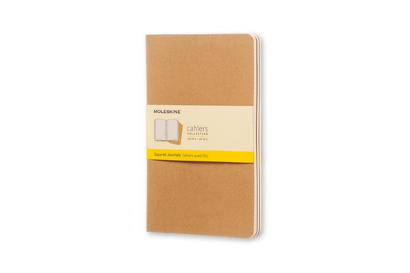 Conjunto 3 Cadernetas Moleskine Cahiers Collection Quadriculado
