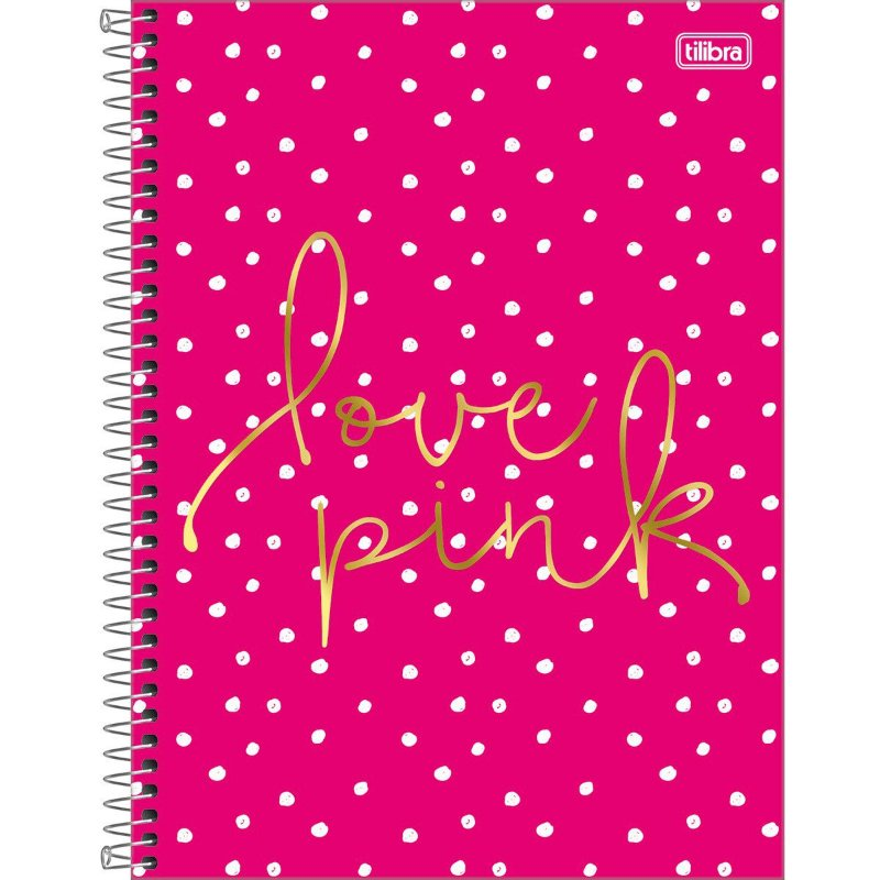 Caderno Universitário Tilibra Love Pink Pois 1 Materia