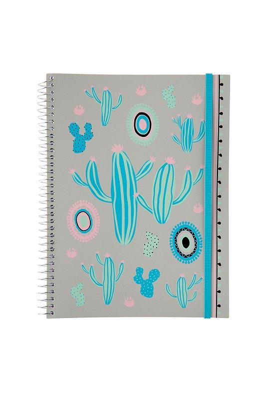 Caderno Universitario Confetti Cactos Pequenos