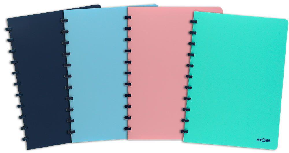 Caderno Atoma Pastel Pautado A4
